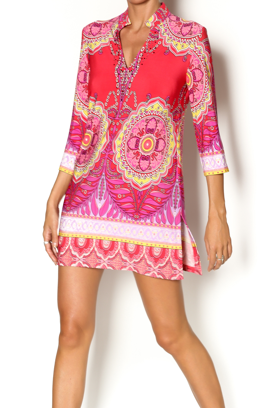85a0a5b68d87 Joseph Ribkoff Printed Embellished Tunic from Vancouver by Jet-Lag ...