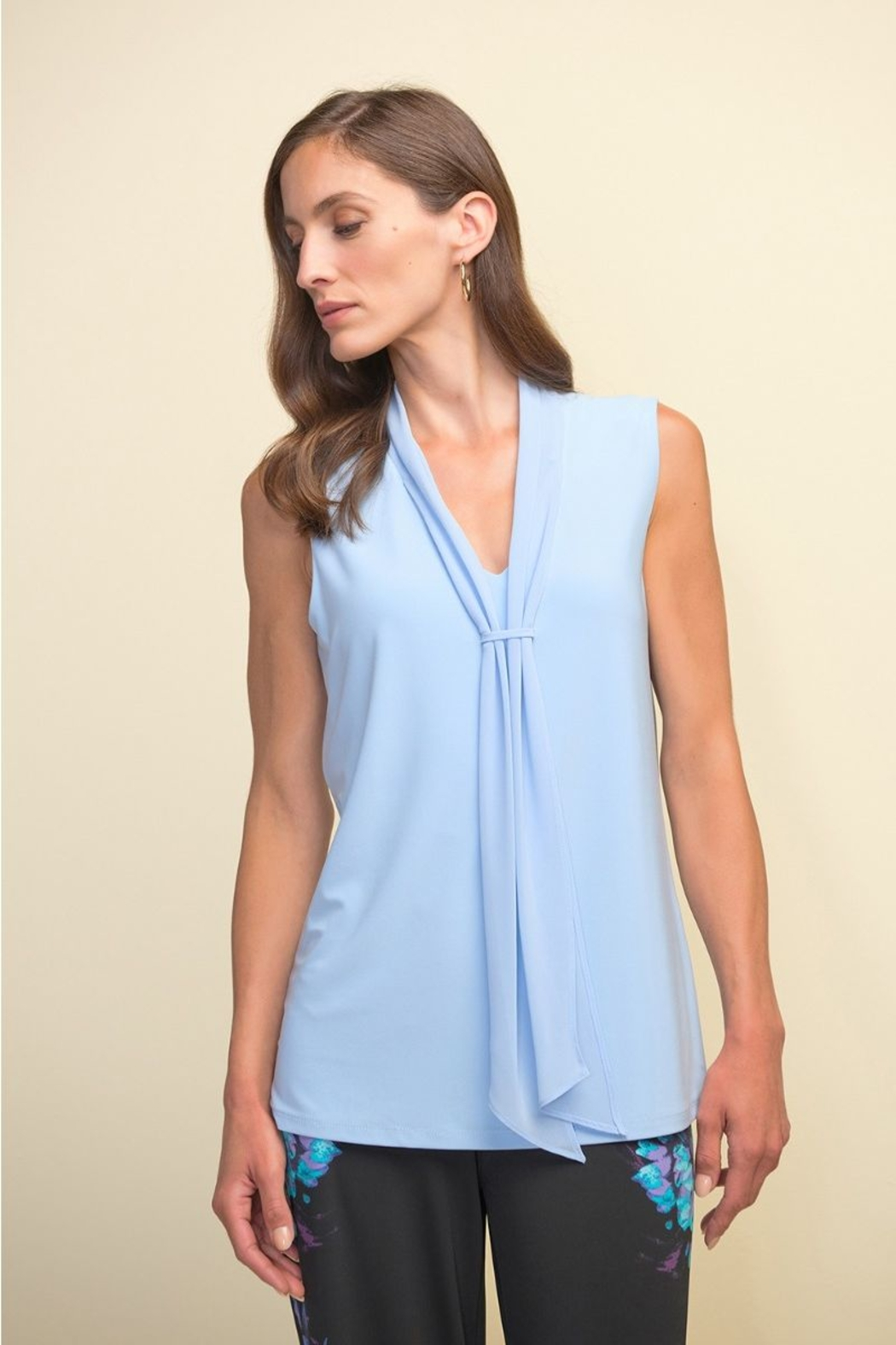 Joseph Ribkoff  Sleeveless Tie Front Top - Main Image