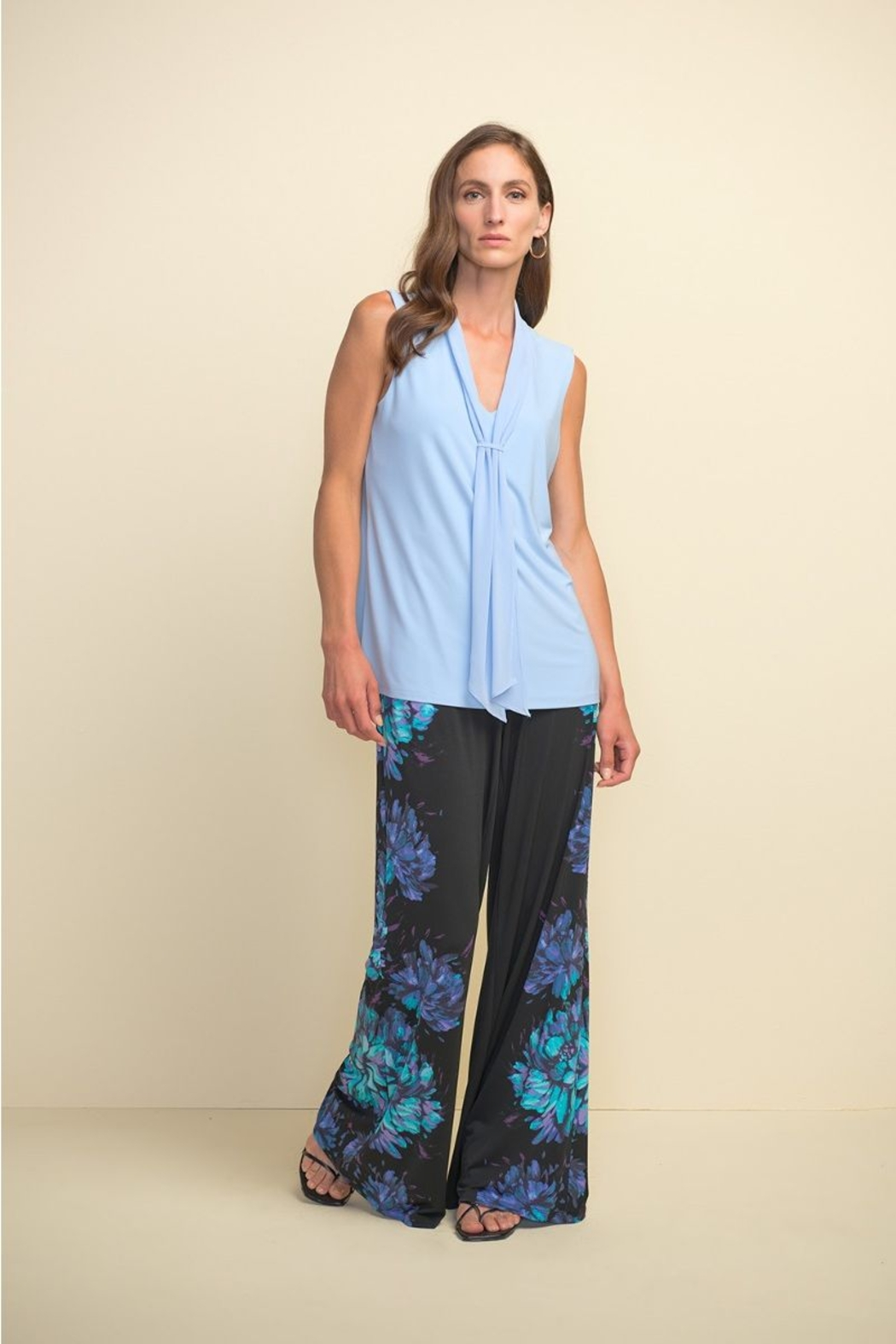 Joseph Ribkoff  Sleeveless Tie Front Top - Side Cropped Image