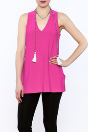 Joseph Ribkoff Hot Pink Sleeveless Tunic - Product Mini Image