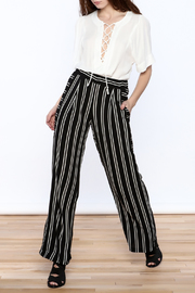 Joseph Ribkoff Striped Palazzo Pant - Front full body