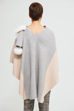Joseph Ribkoff Sweater Wrap Cover Up with Faux Fur Trim - Alternate List Image