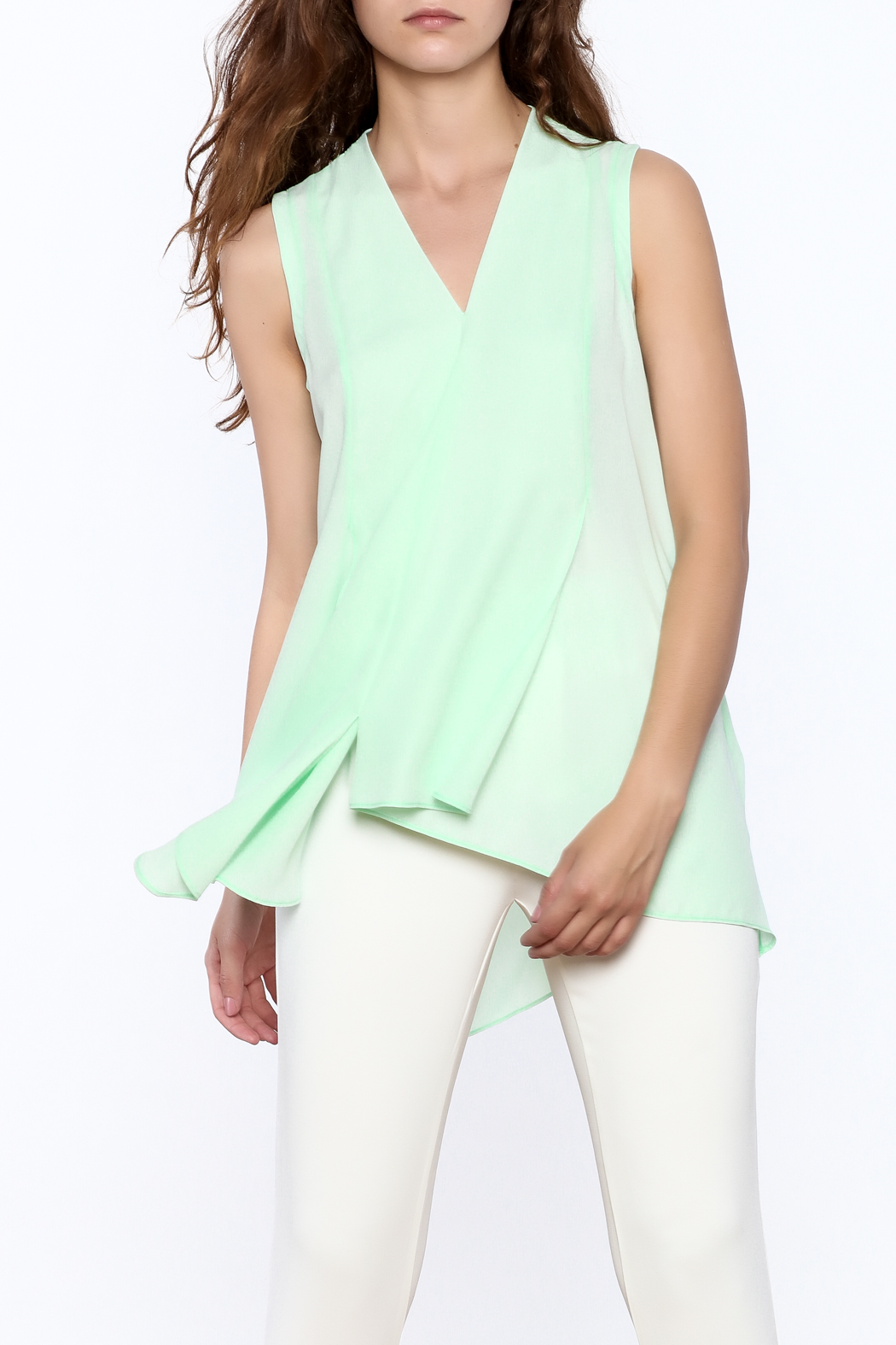 Joseph Ribkoff Mint Sleeveless Top - Front Cropped Image