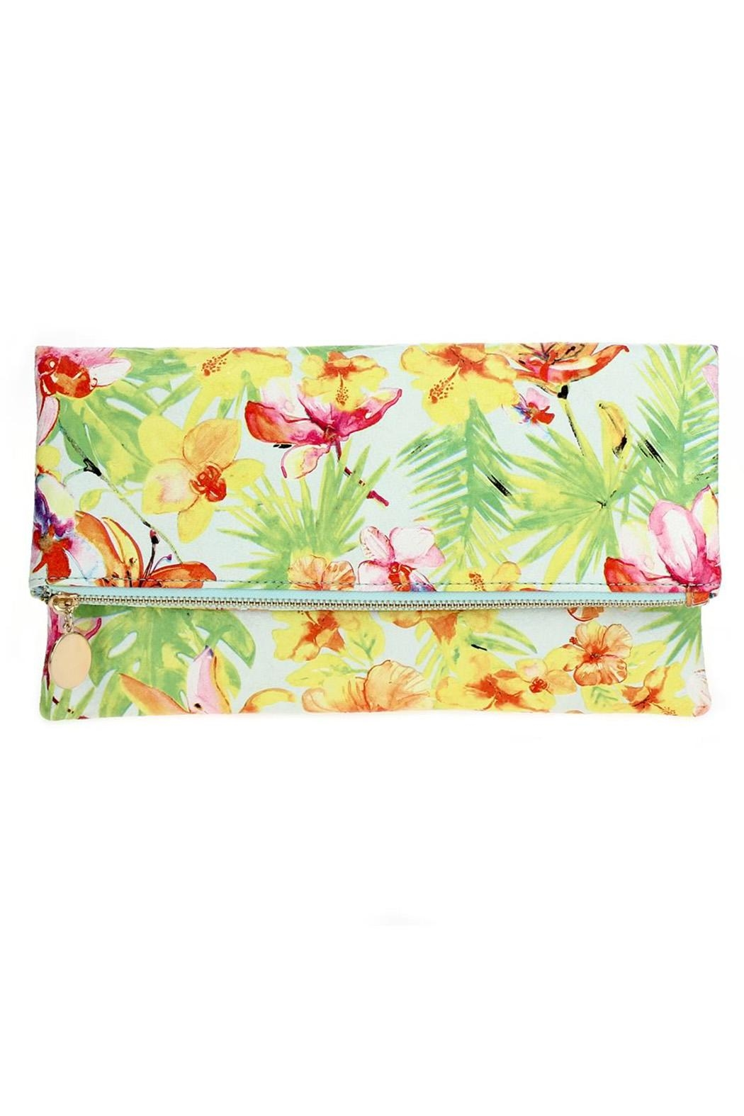joseph d'arezzo Floral Print Clutch - Front Cropped Image