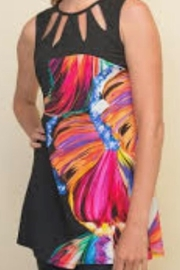 Joseph Ribkoff Abstract Floral Tunic - Front cropped