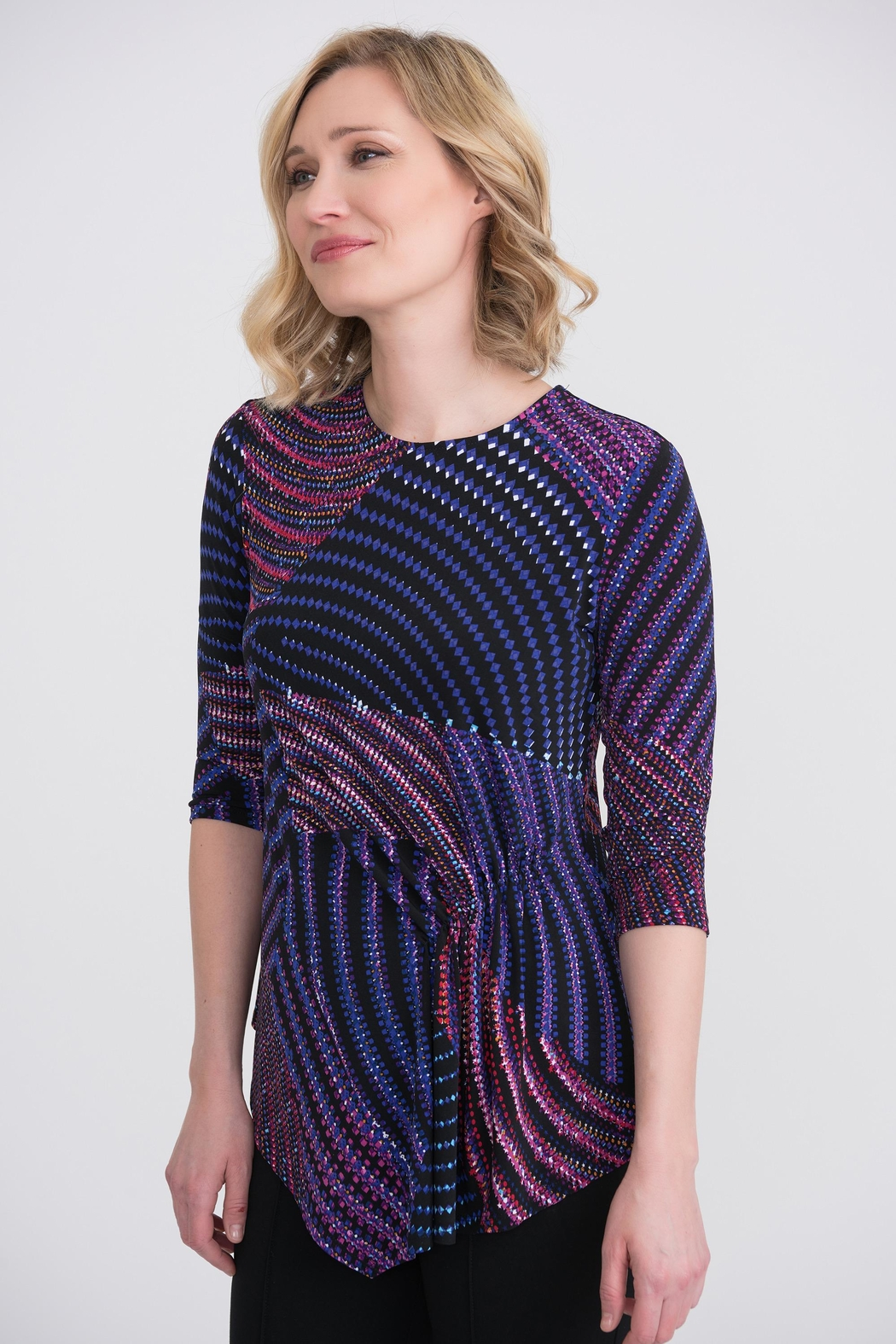 Joseph Ribkoff Abstract Print Top - Front Cropped Image