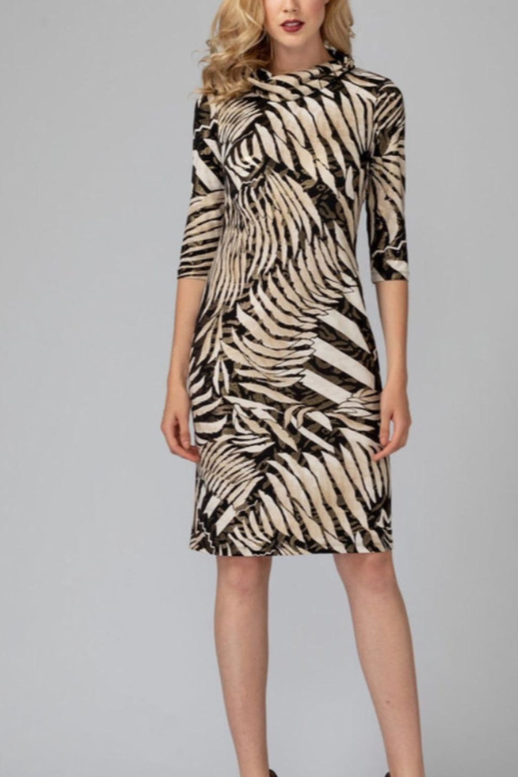 Joseph Ribkoff Animal Print Dress - Front Cropped Image