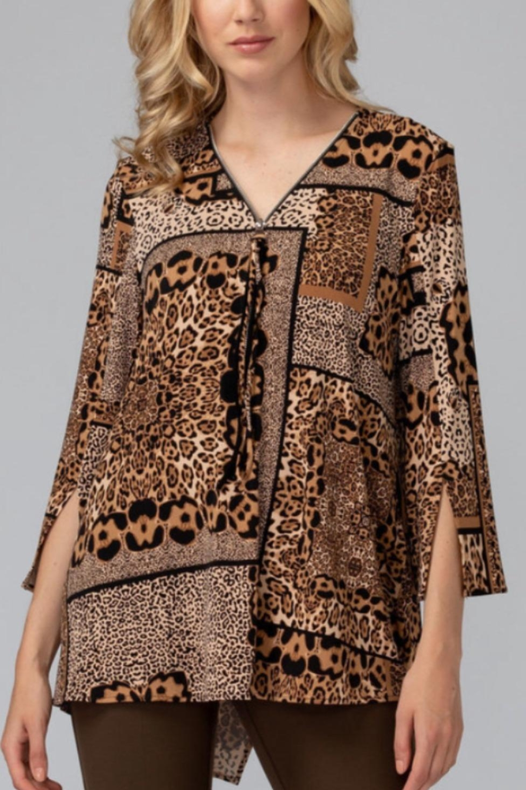 Joseph Ribkoff Animal Print Top - Main Image