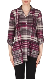 Joseph Ribkoff Asymmetrical Interest Shirt Top - Front cropped