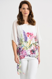 Joseph Ribkoff Asymmetrical Watercolor Top - Product Mini Image