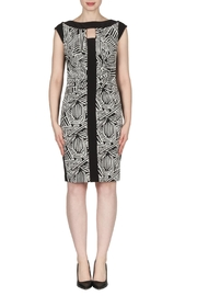 Joseph Ribkoff Aztec Ruched Dress - Product Mini Image