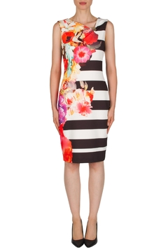 Joseph Ribkoff Banded Floral Dress - Product List Image