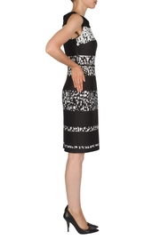 Joseph Ribkoff Banded Printed Dress - Front full body