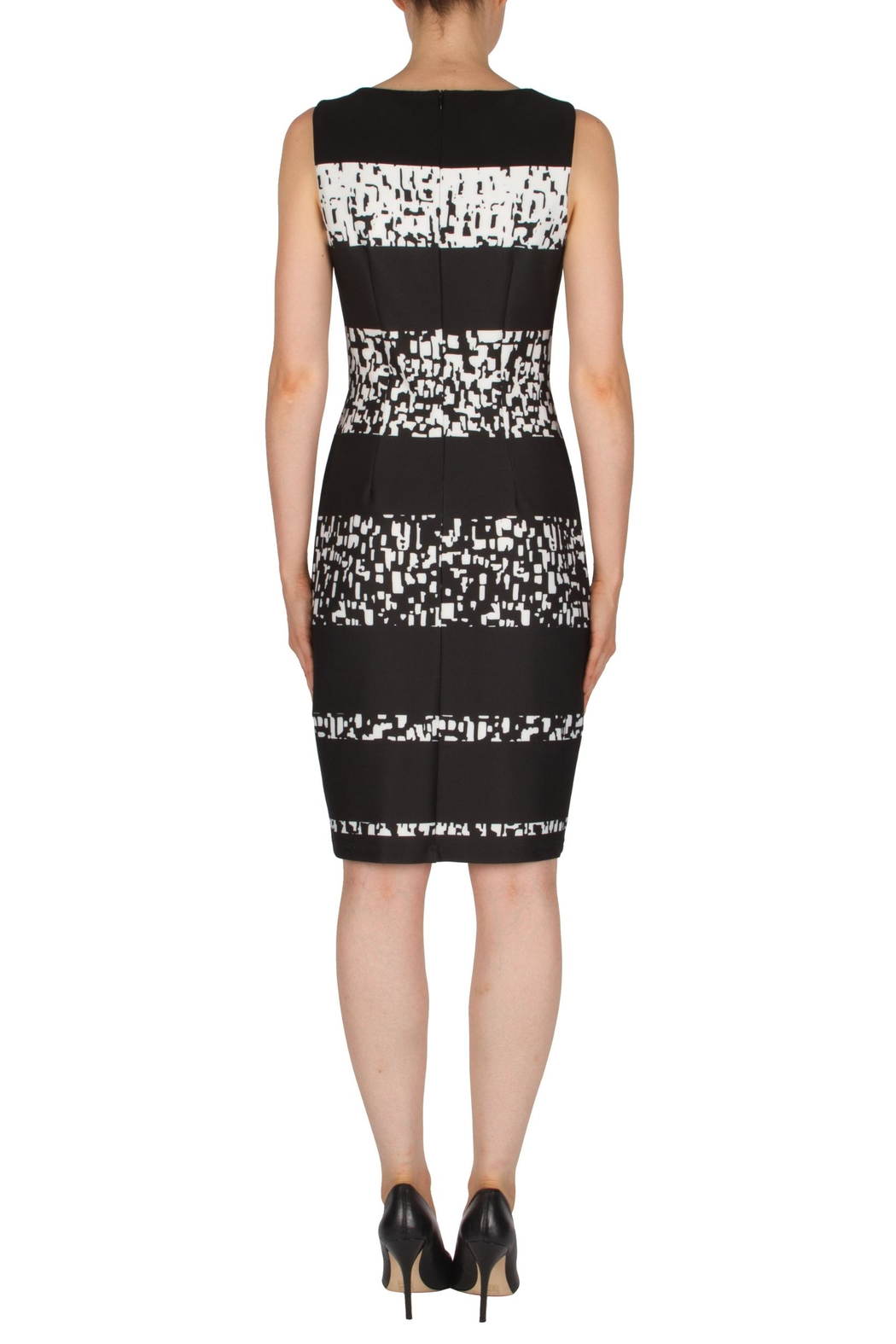 Joseph Ribkoff Banded Printed Dress - Side Cropped Image