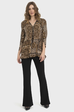 Joseph Ribkoff Barbara Animal-Print Top - Alternate List Image