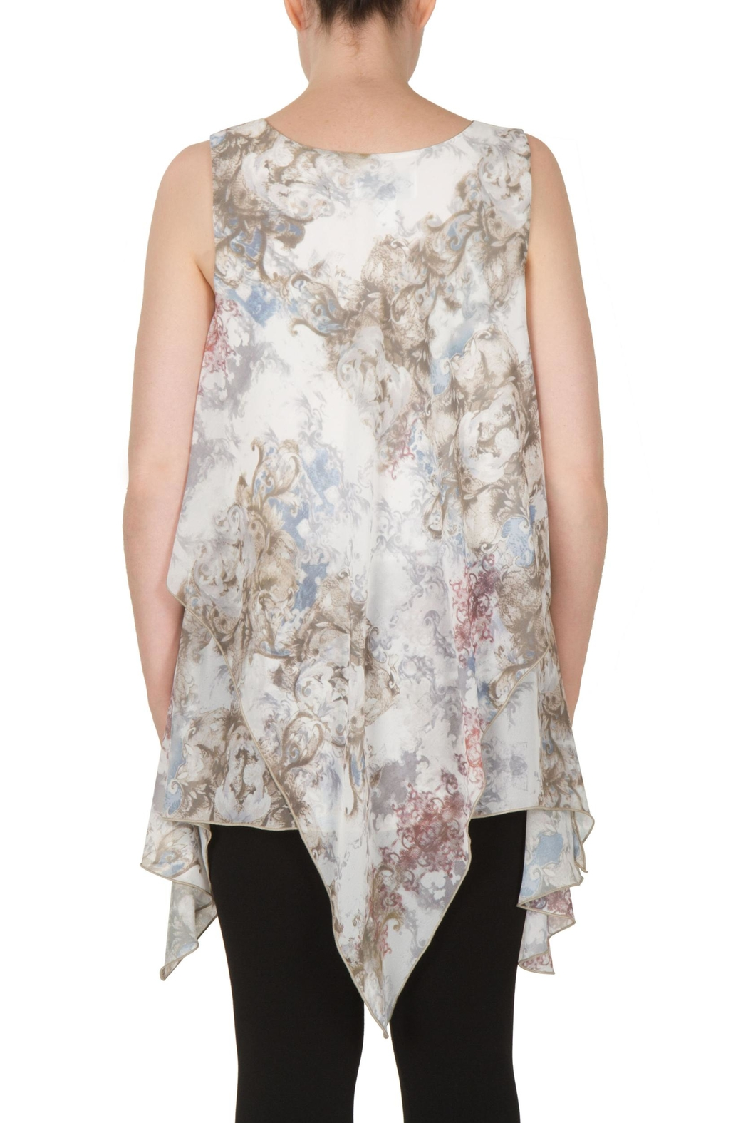 Joseph Ribkoff Baroque Georgette Tunic Top - Side Cropped Image