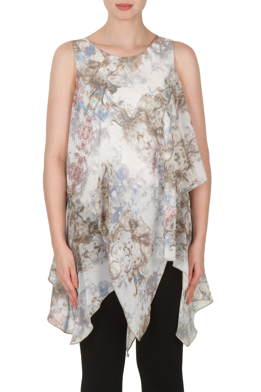 Joseph Ribkoff Baroque Georgette Tunic Top - Front Cropped Image