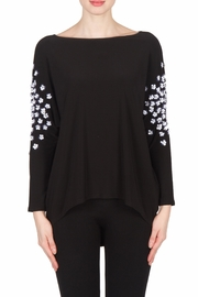 Joseph Ribkoff Beaded Sleeve Top - Front cropped