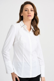 Joseph Ribkoff Beaded White Shirt - Product Mini Image