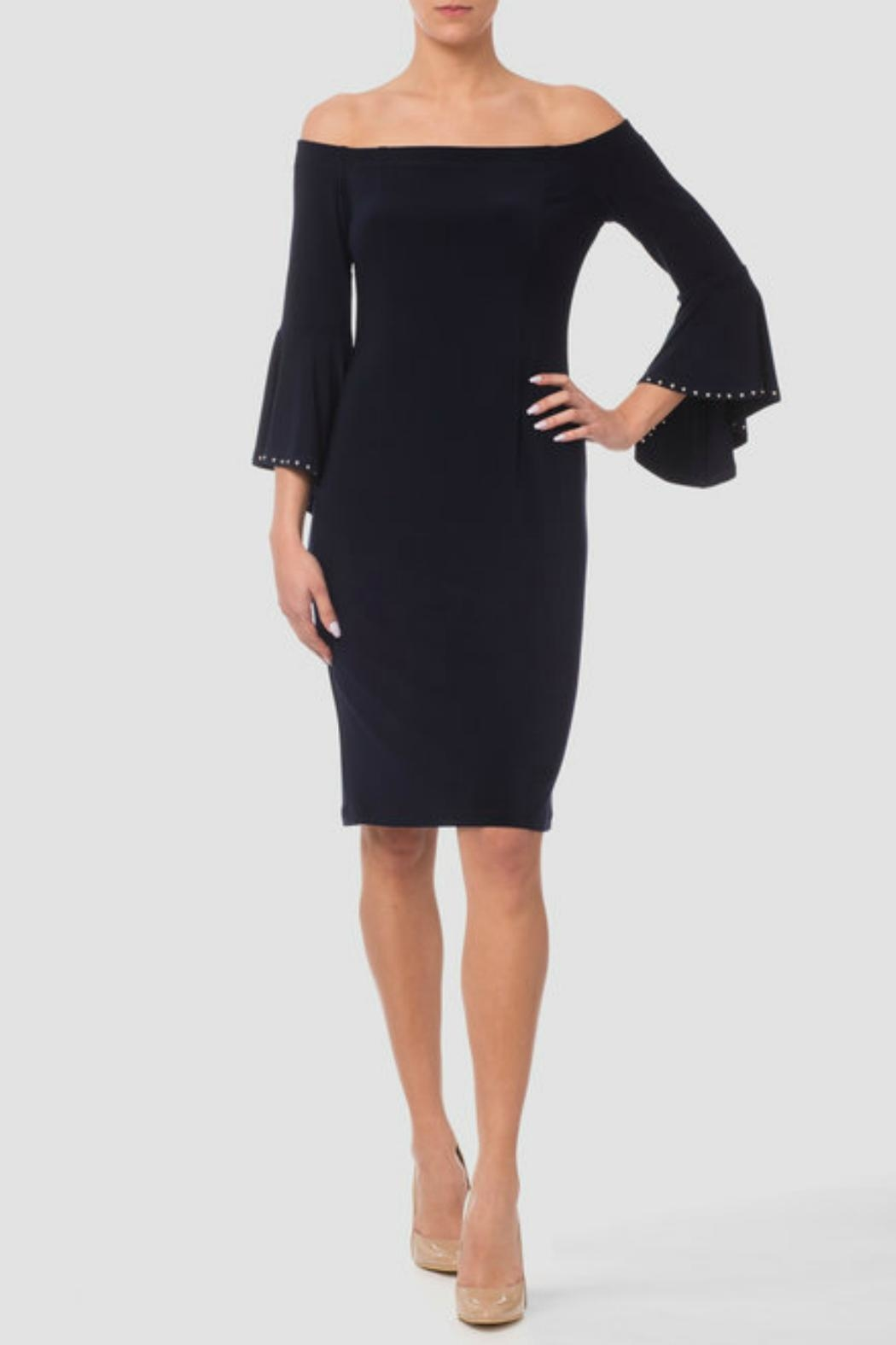 Joseph Ribkoff Bell Sleeve Dress - Front Cropped Image