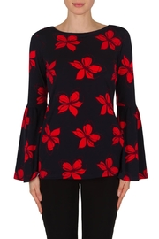 Joseph Ribkoff Bell-Sleeve Red Floral - Product Mini Image