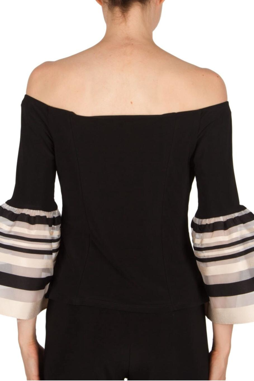 Joseph Ribkoff Bell Sleeve Top - Side Cropped Image