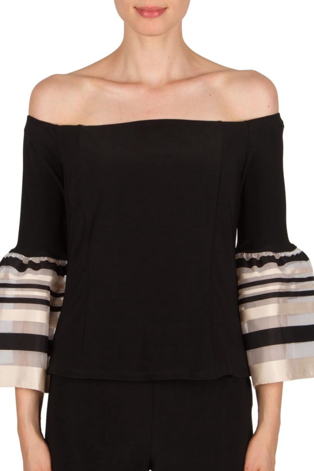Joseph Ribkoff Bell Sleeve Top - Front Cropped Image