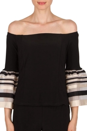 Joseph Ribkoff Bell Sleeve Top - Product Mini Image