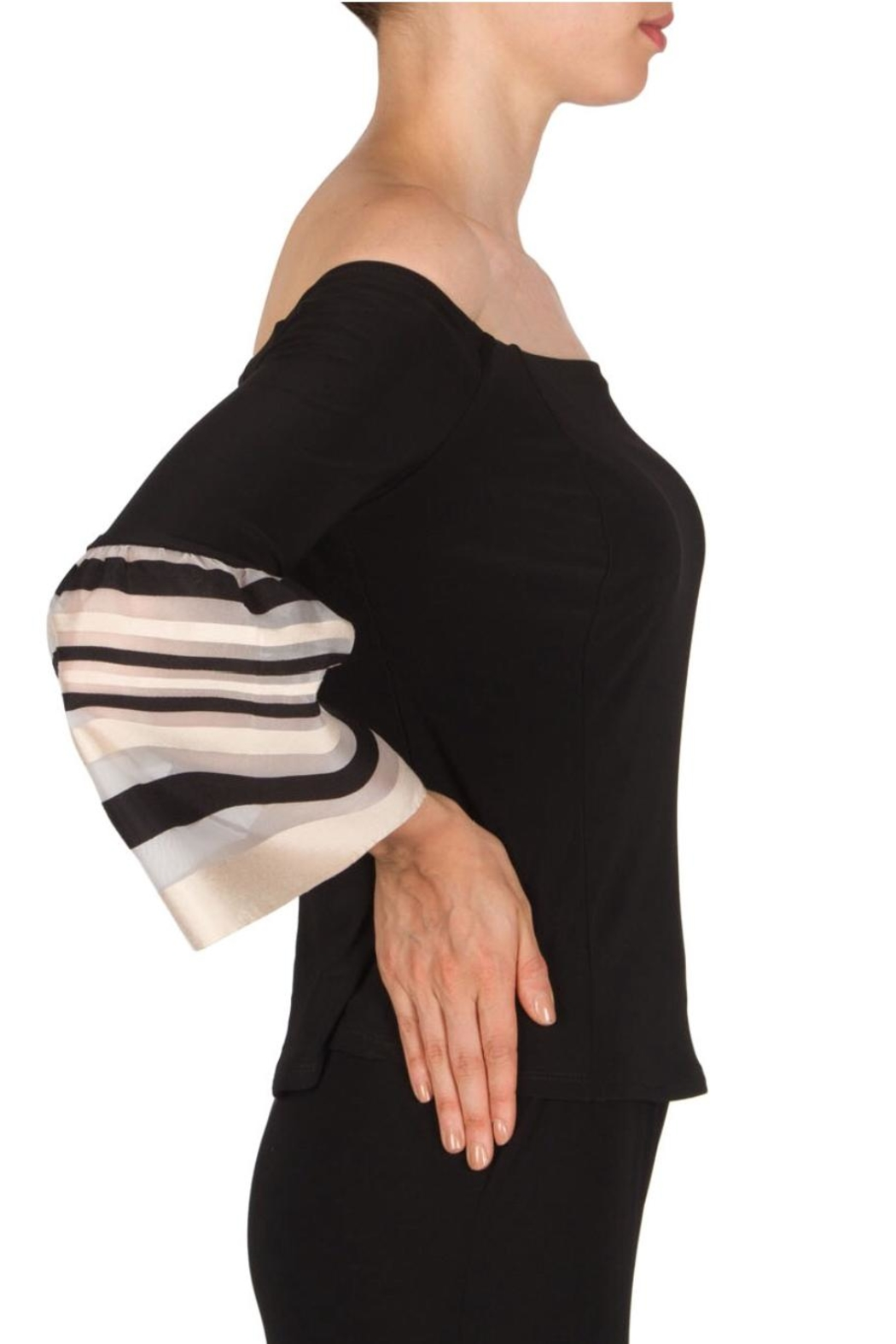 Joseph Ribkoff Bell Sleeve Top - Front Full Image
