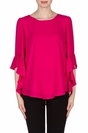Joseph Ribkoff Magenta Bell Sleeve Top - Product Mini Image