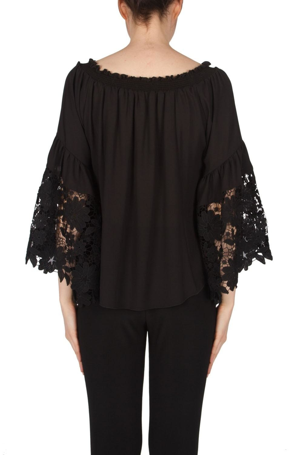 Joseph Ribkoff Bell Sleeves Top - Side Cropped Image