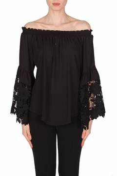 Joseph Ribkoff Bell Sleeves Top - Product List Image