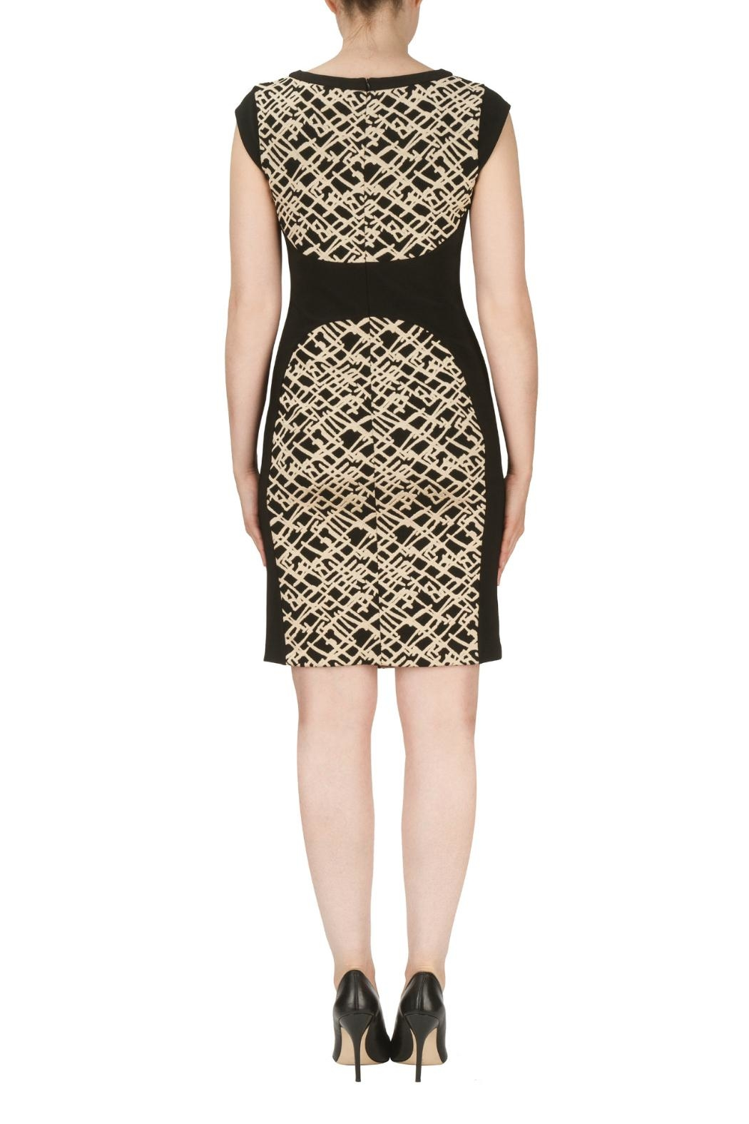 Joseph Ribkoff Belted Texture Dress - Side Cropped Image