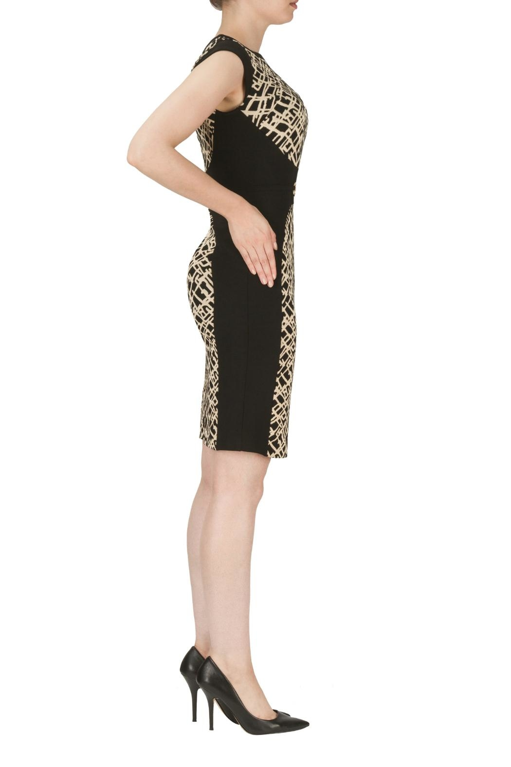 Joseph Ribkoff Belted Texture Dress - Front Full Image