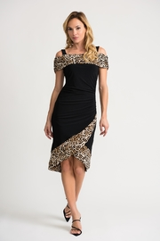 Joseph Ribkoff Black/animal Print Dress - Product Mini Image