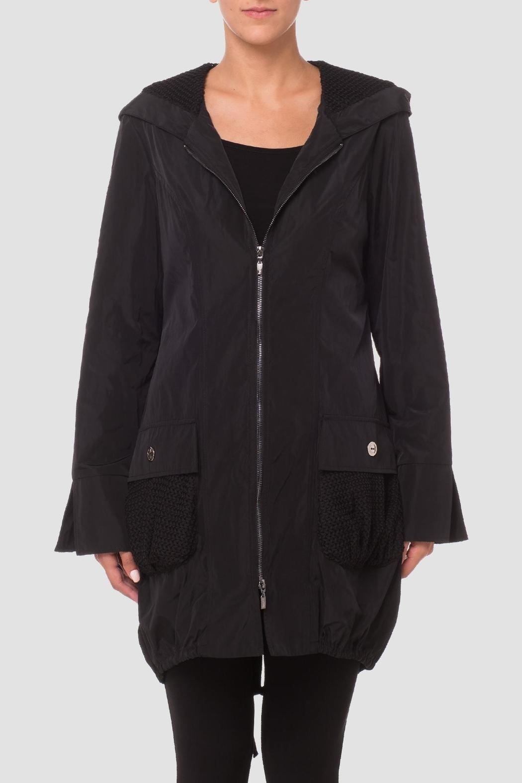 Joseph Ribkoff Black Bubble Coat - Main Image