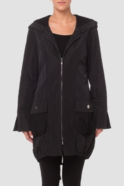 Joseph Ribkoff Black Bubble Coat - Front cropped