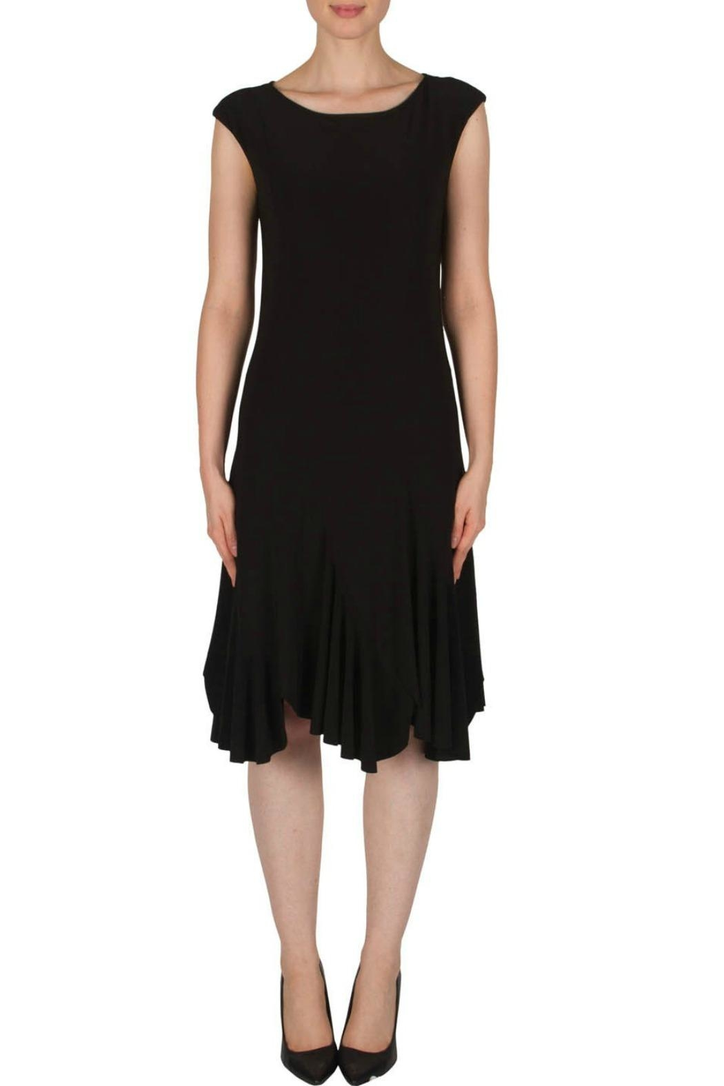 Joseph Ribkoff Black Cap Dress - Front Cropped Image
