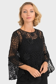 Joseph Ribkoff Black Crochet Top - Product Mini Image