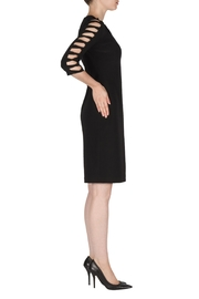Joseph Ribkoff Black Cut-Outs Dress - Front full body