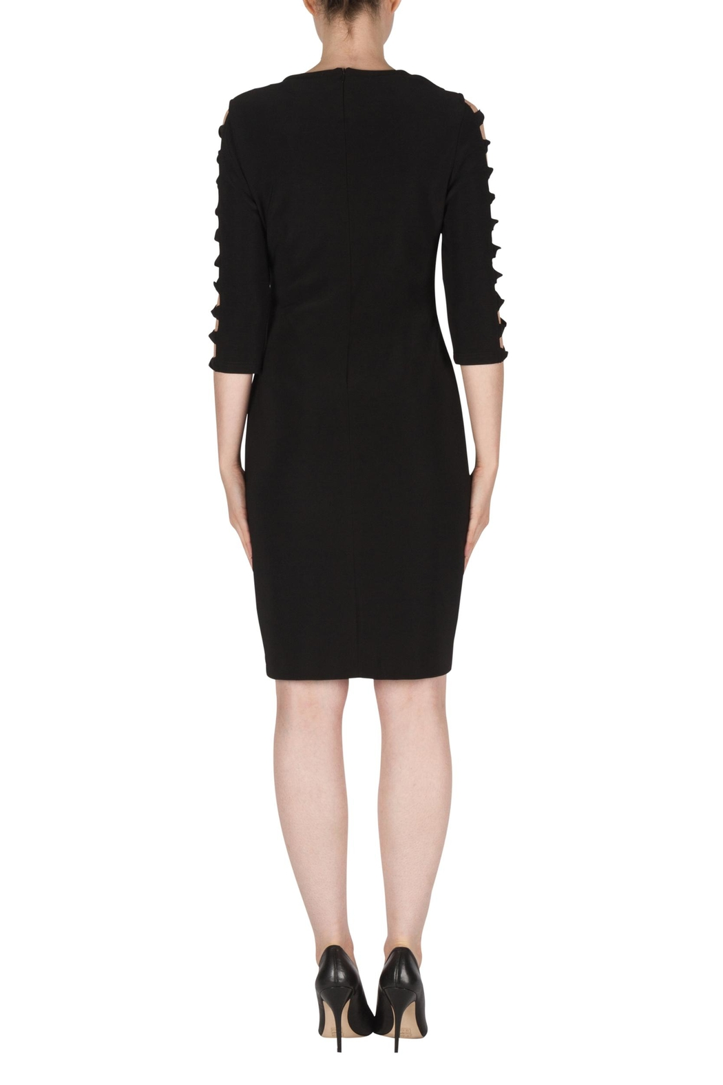 Joseph Ribkoff Black Cut-Outs Dress - Side Cropped Image
