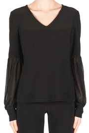 Joseph Ribkoff Detailed Sleeve Top - Product Mini Image