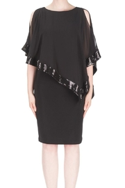 Joseph Ribkoff Trimmed Overlay Dress - Product Mini Image
