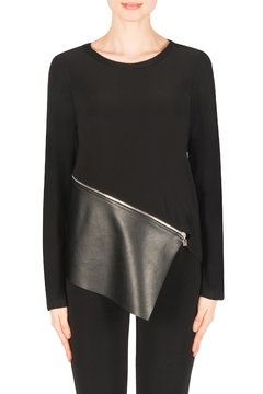Joseph Ribkoff Black Edgy Top - Alternate List Image