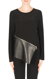 Joseph Ribkoff Black Edgy Top - Product Mini Image