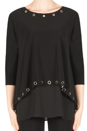 Joseph Ribkoff Black Grommet Tunic - Product Mini Image