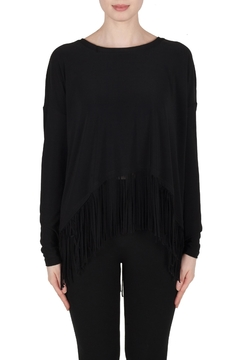 Shoptiques Product: Black Fringed Top