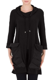 Joseph Ribkoff Black Hooded Tunic - Product Mini Image