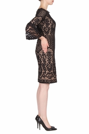 Joseph Ribkoff Black Lace Dress - Front full body