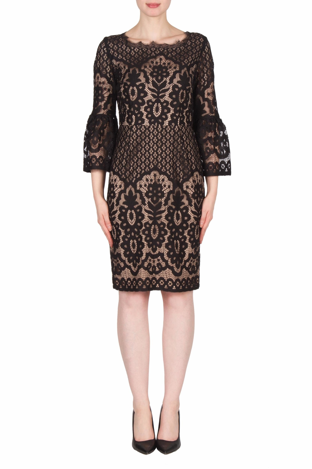 Joseph Ribkoff Black Lace Dress - Main Image